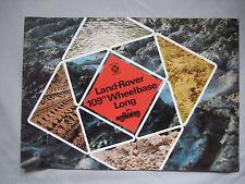 """1974 Land Rover 09"""" Wheelbase Long Brochure Pub, No. R1036/3.74"""