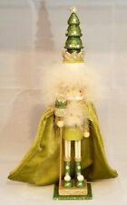 "Tree King Nutcracker Green Wood Decor Christmas 15"" Hollywood Kurt Adler Gift"