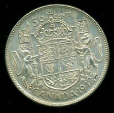 1942 King George VI, Silver Fifty Cent Piece,    I22