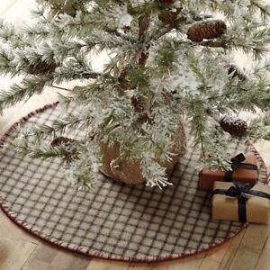 VHC Brands Primitive 21-Mini Tree Skirt Grey Christmas Weston Felt Holiday Decor