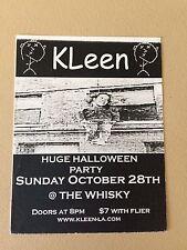 KLeen Gig Flyer Hollywood 2001