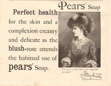 1893 ANTIQUE PRINT - ADVERT- PEARS SOAP