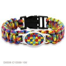 Lovely Friendship Autism Awareness Paracord bracelet. In Organza Gift bag....