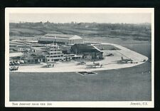 Aviation Channel Islands JERSEY Airport Aerial view c1950s? PPC Jersey Premier