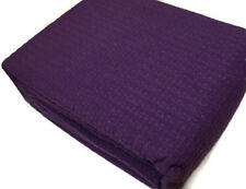 Lauren Ralph Lauren Woven Textured Weave Purple King Cotton Blanket New