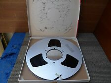 """Scotch 10.5"""" 1/4"""" Aluminum take up reel with recording tape good condition."""