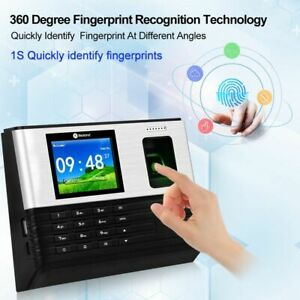 Fingerprint Time Attendance Machine Wifi RFID Biometric Office USB Time Clock