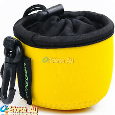 Neoprene Soft Camera Lens Protect Case Bag Cover Pouch For Sony DSC-QX10 Yellow
