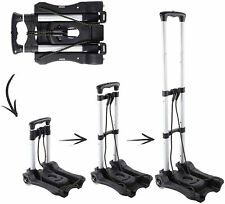 Portable Luggage Cart Aluminum Folding Hand Truck Dolly Warehouse Trolley -NEW