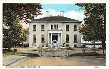 A54/ Richmond Virginia Va Postcard c1915 Governors Mansion Home