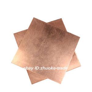 5pcs 100x100x0.5mm T2 copper plate Copper Sheet 0.5mm Thick Gauge Conductive Cut