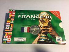 FRANCE - 5 FRANCS en Argent (Football) Coupe du Monde France 98 - Coffret en BU