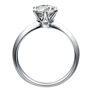 Fashion Jewellery 925 Sterling Silver 1.25 CT AAAAA Zircon Solitaire Party Ring
