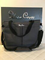SILVER Cross Changing Bag Clean Condition flint Pursuit bag