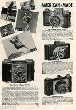 1942 ADVERT 2 PG American Made Camera Falcon Univex Mercury Corsair Argus Arco