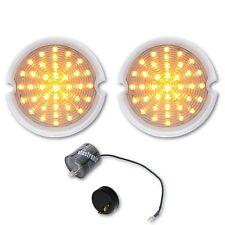 1951-1953 GMC Truck LED Clear Park Light Turn Signal Lamp Lens w/ Flasher PAIR