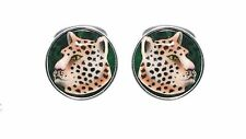 CUFFLINKS LEOPARD URSO LUXURY IN STERLING SILVER 925 AND ENAMELS 30% OFF
