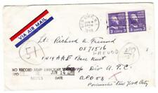 3c PREXY ISSUE-Sc#807a-BOOKLET PAIR-NEW YORK JUN/6/1946-to ARMY POST