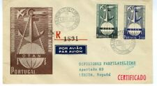 Portugal Stamps # 747-8 Cachet First Day Cover Registered Flown
