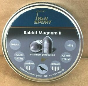 H&N Rabbit Magnum II Pellets .177 Cal 15.74 Grains 200ct