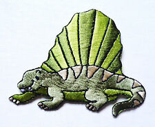 Embroidered Iron-On Applique  Dinosaur, 3 x 2+1/4 inch