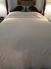 TEXTEIS PENEDO S.A. Portugal Cotton Stonewashed Matelasse Ivory Coverlet - King
