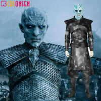Game of Thrones 8 Night King Cosplay Costume Halloween Outfits Soldier Suit