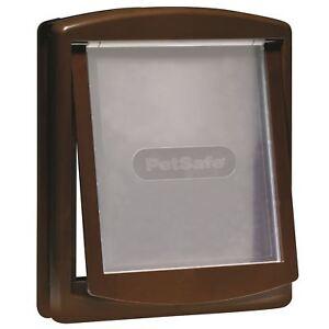 PetSafe Staywell Original 755 Medium Dog Flap Pet Door 2-Way Locking Easy, Brown