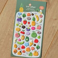 Fruit Strawberry Kiwi Apple Banana Cherry Peach Orange stickers scrapbook #235