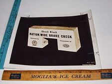Rare Historical Original VTG 1945 WWII AAA Ad Nation Wide Brake Check Photo