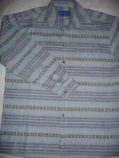 CHEMISE HOMME BLEU IMPRIMEE TAILLE 37/38  M