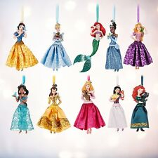 Disney Store Princess Sketchbook Ornament Set Of 10