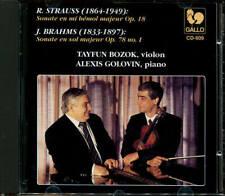 CD  R. STRAUSS  BRAHMS Sonate Op.18  78 No.1   BOZOK GOLOVIN  GALLO 1990