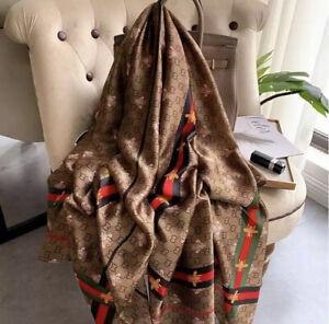 Designer Inspired Silk Scarf Premium Luxury Hijabs Neck Scarf Shawls Wraps Bee