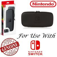 Genuine Nintendo Switch Console Carry Case Storage Bag Stand + Screen Protector