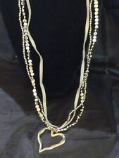Stylish Vintage Silver Heart Pendant and Grey Suede Necklace.