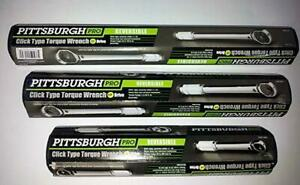 """Pittsburgh Pro 1/4"""" 3/8"""" 1/2"""" Click Stop Torque Wrench Quinn Digital 1/2"""" Meter"""