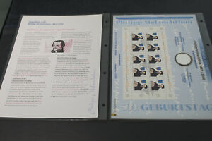Numisblatt 1/997  Melanchthon  mit Beiblatt (K77)