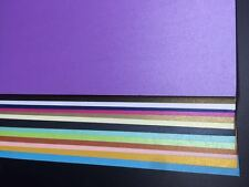 10 X 250gsm A4 Pearlised Cardstock Pearlescent Shimmer Card Craft Paper 18 Color