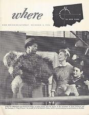 "Cloris Leachman ""KING OF HEARTS"" Jackie Cooper 1954 New York's ""Where"" Magazine"