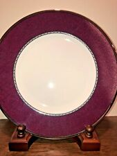 WEDGWOOD CONTRASTS RED ACCENT Salad PLATE