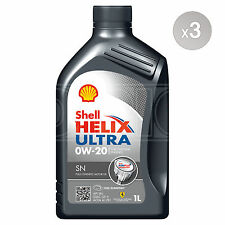 Shell Helix Ultra SN 0W-20 Fully Synthetic Car Engine Oil - 3 x 1 Litres 3L