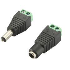 5,5x2,1mm 12V M/F DC Netzteil Adapter Stecker Hohlstecker Buchse für CCTV Strip