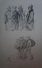 """STEINLEN (1859/1923) Litho WW1 - """" FEUILLE DE CROQUIS  """"  - Signé"""