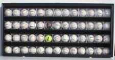 52 Baseball CUBE Display Case Wall Shadow Box Cabinet, UV Protect, Lock, HW14-BL