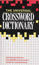 The Universal Crossword Dictionary, By Ursula Harringman,in Used but Acceptable