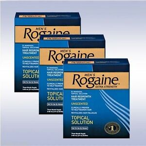 ROGAINE Mens Extra Strength 5% Minoxidil Topical Solution 9 Month Exp. Date 2023
