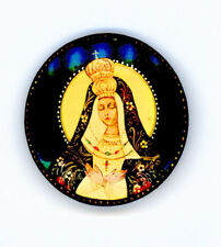 Russian Handpainted Brooches of Religous Saints_brooch_11, Mary