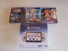 Sony PS Vita Slim PCH-2000 Silver Japan Console + 32GB Mem Card +3 Sealed Games.