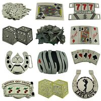12Pcs Wholesale Belt Buckles Manufacturer Usa Las Vegas Casino Unisex Metal Goth